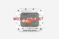 """Наклейка на мототехнику   на крышку бака   """"SEDAN-KING SPORTS""""   (13х13см, красная)   (#1625)"""