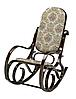 Кресло качалка темное ткань цветы