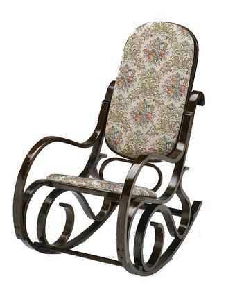 Кресло качалка темное ткань цветы , фото 2