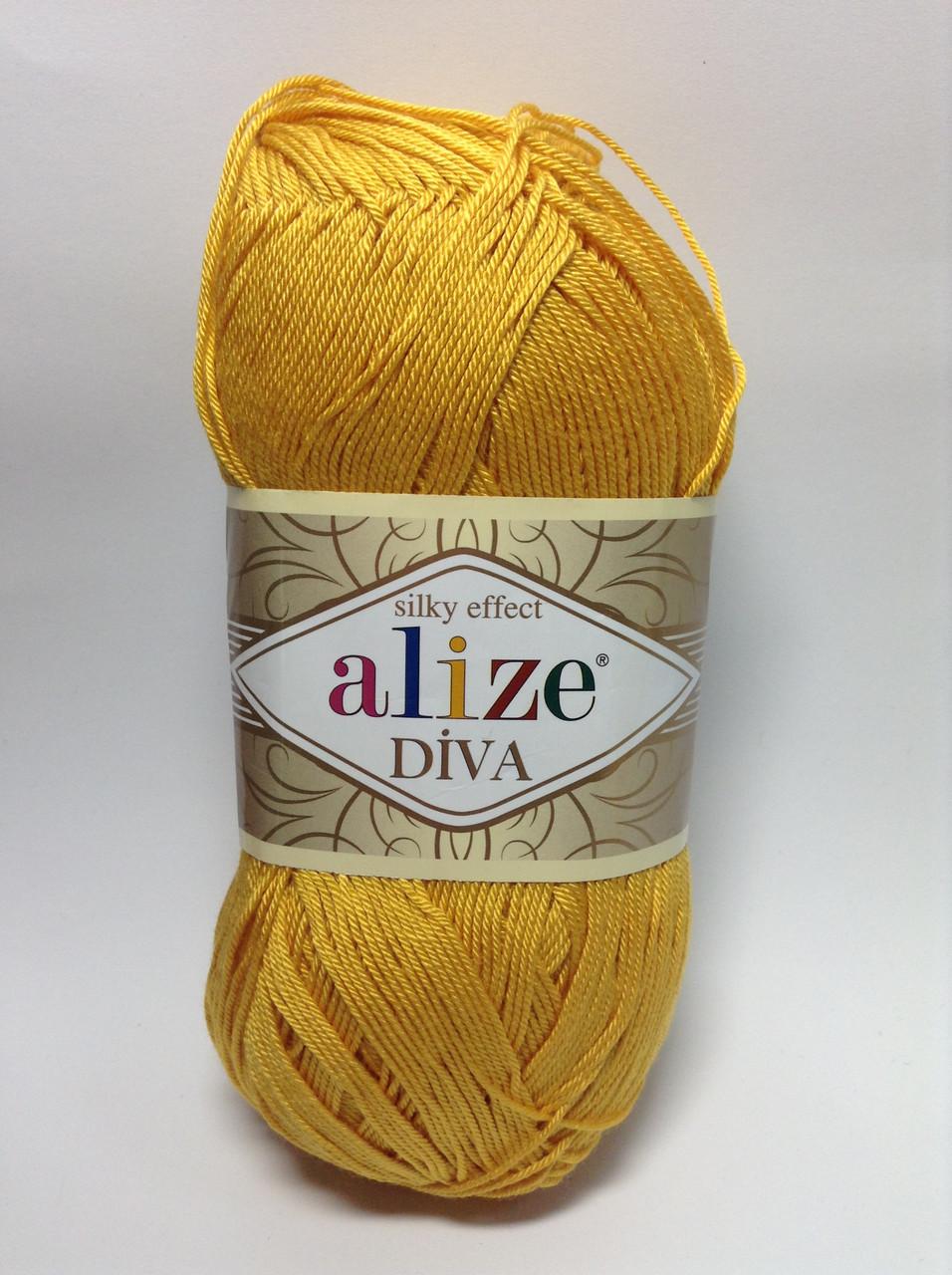 Пряжа diva - цвет горчично-желтый