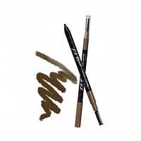 Стойкий гелевый карандаш с щеточкой CLIO коричневый