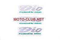 Наклейки на мототехнику (набор)   Honda DIO   (12х4см, 3шт)   (#1160)