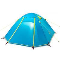 Палатка 2-х местная NatureHike P-Series II полиэстер голубой NH15Z003-P