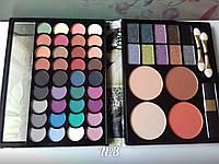 Набор для макияжа Палитра теней MAX MAR 03 в пенале матовые и перламутровые тени + пудры+румяна
