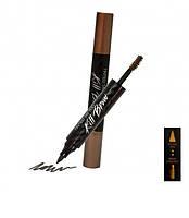 Тату-маркер и тушь для бровей 2в1 CLIO коричневый