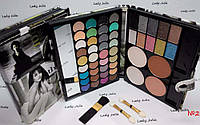 Набор для макияжа Палитра теней MAX MAR 02 в пенале матовые и перламутровые тени + пудры +румяна