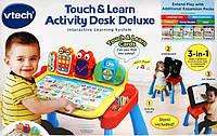 Интерактивный центр 3в1 Vtech столик и мольберт для изучения английского Touch and Learn Activity Desk Deluxe