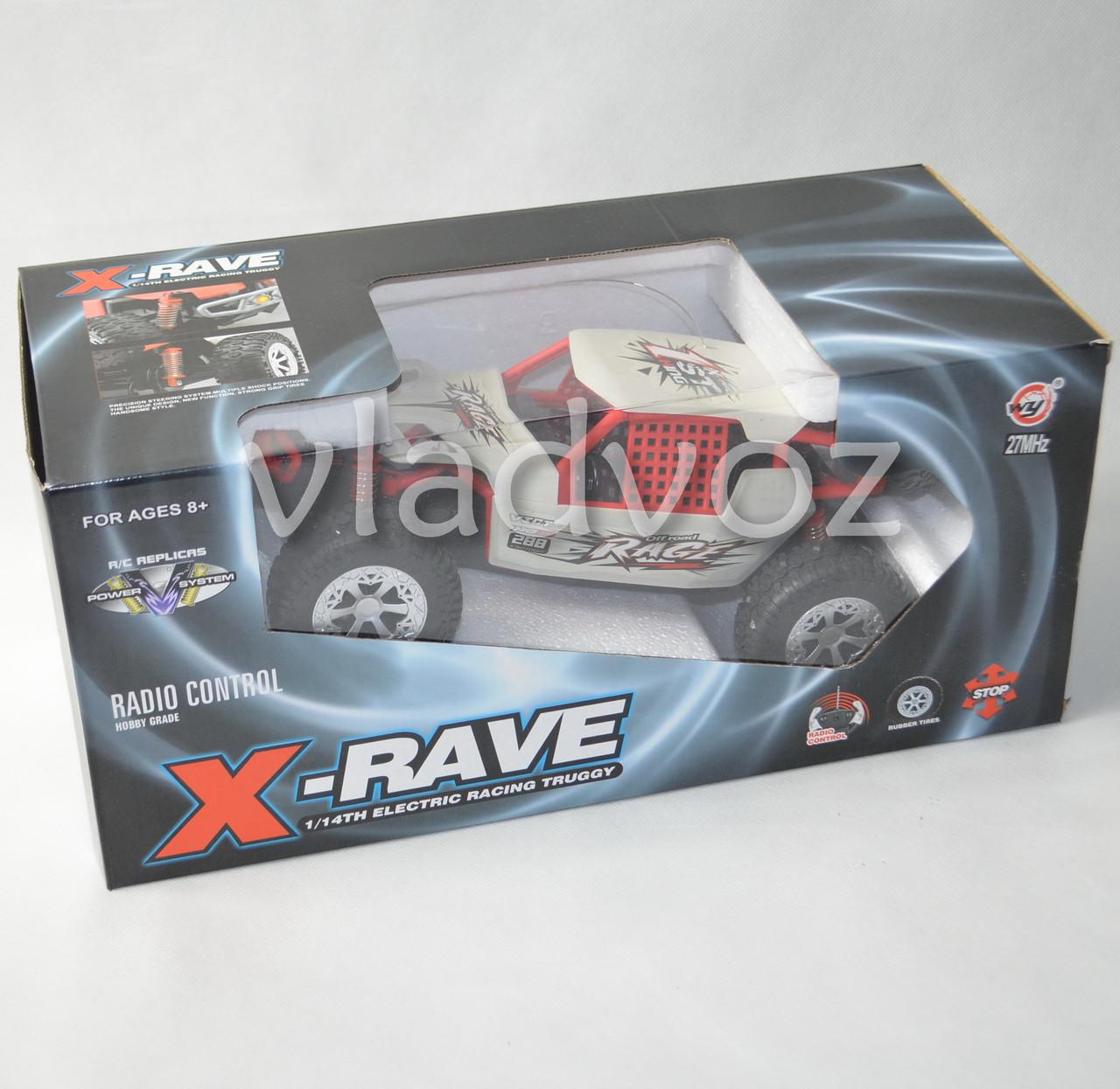 упаковка машинки на радиоуправлении багги белый метал коробка