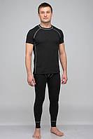 Термокомплект мужской KIFA с футболкой (КМО-621 Ш) Черный, серая строчка