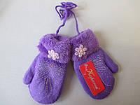 Двойные зимние варежки для девочек., фото 1