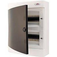 Щит пластиковый ETI ECT 24PT (наружный 2х12мод, дверь прозр, IP40), 1101003