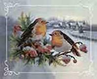 Набор для вышивания бисером Пара птиц №2, Идейка (ВБ 2001)