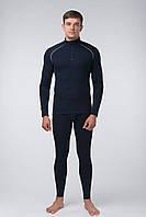 Мужское нательное белье зимнее, темно-синее КМО-620 Ш