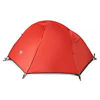Лёгкая палатка одноместная Naturehike Cycling I полиэстер красный NH18A095-D