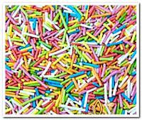 Соломка ассорти посыпка сахарная декоративная 500 гр