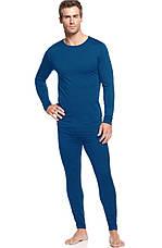 ,,,Термо-подштанники кальсоны мужские  с ширинкой,кофта в подарок,  КЛИМАКОТТОН+ширинка. Синий,- 175рост, фото 2