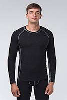 Термоджемпер мужской KIFA (ДМО-614 Ш) Черный, серая строчка, фото 1