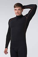 Термоджемпер мужской KIFA (ДМО-620 Ш) Черный, оранжевая строчка, фото 1