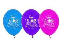 """Воздушные шары """"Принцессы Дисней"""" 12""""(30 см) aссорти пастель. В упак: 50 шт."""