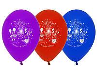 """Воздушные шары """"Щенячий патруль"""" 12""""(30 см) aссорти пастель. В упак: 50 шт."""