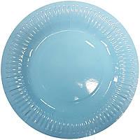 Тарелки бумажные голубые 10шт.