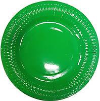 Тарелки бумажные зеленые 10шт.
