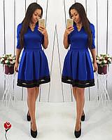 Платье офисное со складками
