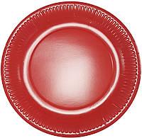 Тарелки бумажные красные 10шт.