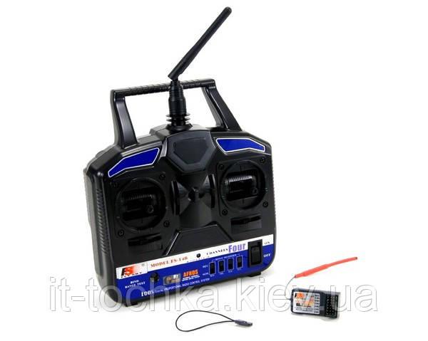 Комплект аппаратуры управления flysky fs-t4b 4-канальная 2.4ghz с приёмником r6b