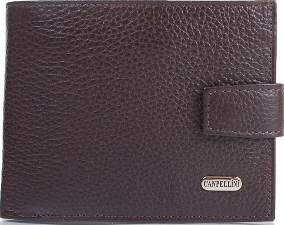 Мужской кошелек из натуральной кожи CANPELLINI SHI1107-14 коричневый