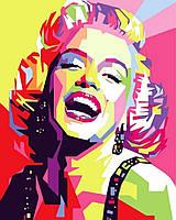 Раскраски по номерам 40×50 см. Мэрилин Монро