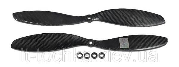 Пропеллеры карбоновые tarot 1147 5-6мм для мультикоптеров (tl2808)