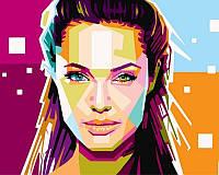Раскраски по номерам 40×50 см. Анджелина Джоли