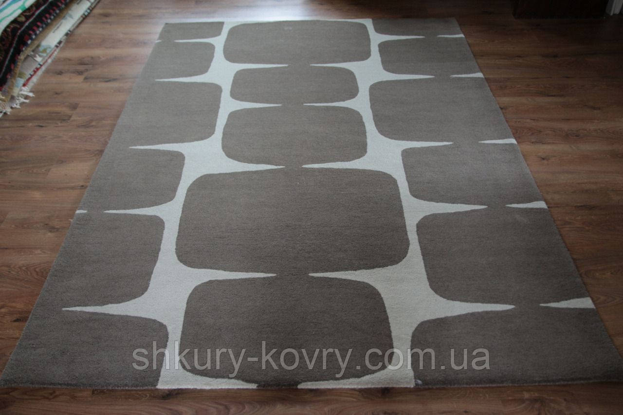Красивейший плотный толстый ковер из шерсти в современном стиле