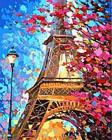 Рисование по номерам 40×50 см Весенний Париж