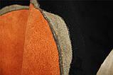 Красивий чорно помаранчевий вовняний килим на підлогу, фото 3