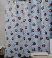 Шторка,занавеска в ванную комнату Miranda(морские ракушки)