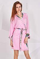 Женский розовый домашний халат в размере S, фото 1