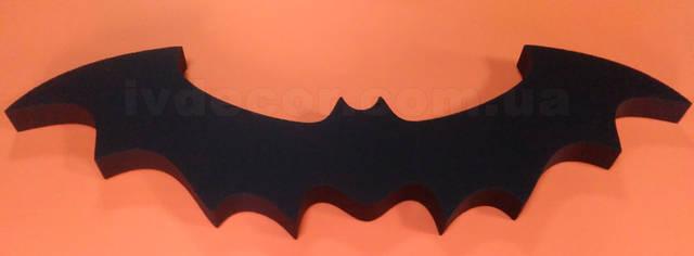 Летучая мышь bat-2 из пенопласта ПСБ-С-35ТУ с покраской. Размер 95*30*4 см.
