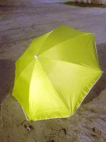 Пляжный зонт с наклоном 1,8 м с серебром желтый