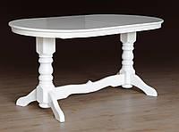 Стол обеденный раскладной Говерла белый( массив бука)1600(+400)*900 (раскладной), фото 1