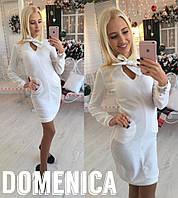 Женское платье с бантиком е-31032111