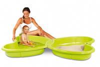 Песочница-бассейн с подводом для воды, длина 167см, размер 167х111х18 см, 2+