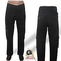 Джинсы мужские прямые с накладными карманами Le Gutti чёрного цвета