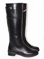 Сапоги зимние, кожаные, черного цвета,40р.