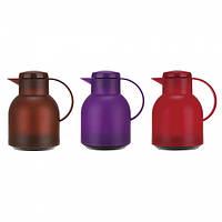 Термос 1000мл со стеклянной колбой (красный,фиолетовый, коричневый) Kamille 2084