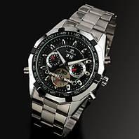 Механические мужские наручные часы с автоподзаводом Forsining, черный циферблат