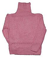 Гольф-водолазка детская вязаная для девочек. размеры 3-4-5 лет