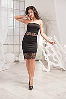 """Шикарное черное  платье """" Парус """". Арт-8932/74"""