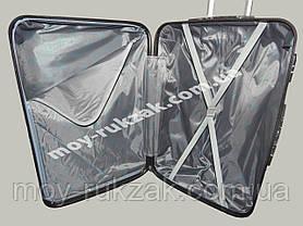 """Набор чемоданов 2+1 в подарок, Поликарбонат """"Бабочка-2"""", фото 3"""